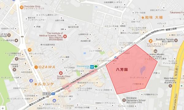 八芳園桜マップ