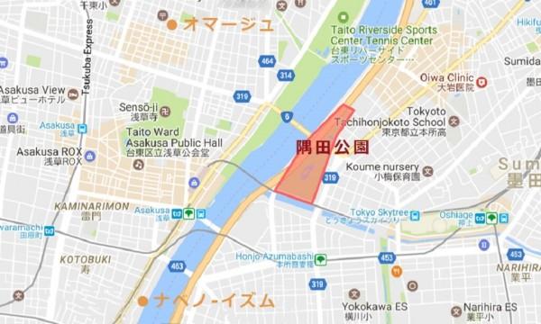 隅田公園桜マップ