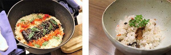 ナマコと雲南キノコの炊き込みご飯